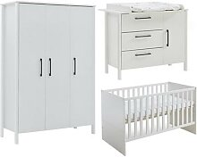 Babyzimmer Komplett-Set Kiara, 3-tlg. weiß