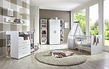 Babyzimmer komplett Set KIM 4 in Weiß,