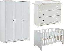 Babyzimmer Komplett-Set Thilo, 3-tlg. weiß