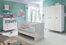 Babyzimmer-Komplettset Cannes, (Set, 3 St.), Bett