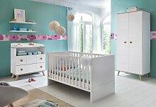 Babyzimmer-Komplettset Cannes, (Set, 3 tlg.), Bett