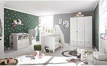 Babyzimmer Landhaus in Weiß 7 teiliges Megaset