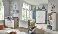 Babyzimmer Selina 5 teilig in Platinum Oak und