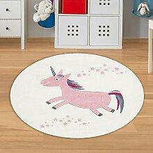 Babyzimmer Teppich Mädchen Rosa Weiß Größe 160