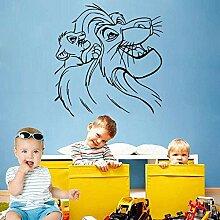 Babyzimmer Wandbehang Bild Cartoon Löwe Aufkleber