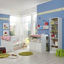 Babyzimmer weiß - Eiche sägerau Wickelkommode