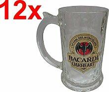 BACARDI OAKHEART Humpen 35cl (12x, Flaschenöffner