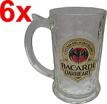 BACARDI OAKHEART Humpen 35cl (6X, Flaschenöffner