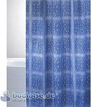 BACCHETTA Duschvorhang Vinyl 180 x 200 cm Terme Wassertropfen transparent/blau