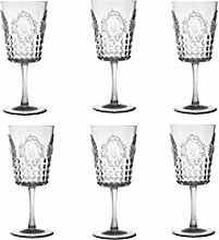 Baci BM 214849 Weinglas, Acryl, transparent, 8,5 x 8,5 x 2 cm