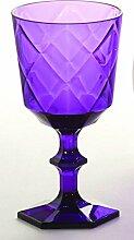 Baci BM 675142 So schickes Wein-Glas, Acryl, lila, 9 x 9 x 17 cm