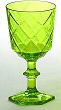 Baci BM 675159 So schickes Wein-Glas, Acryl, grün, 9 x 9 x 17 cm
