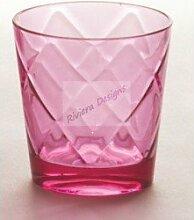 Baci BM 675203 So schickes Wein-Glas, Acryl, rosa, 9 x 9 x 9,5 cm