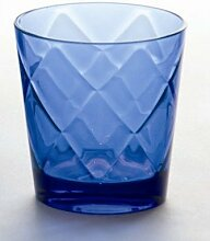 Baci BM 675241 So schickes Wein-Glas, Acryl, blau, 9 x 9 x 9,5 cm