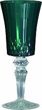 Baci BM 677504 So schickes Wein-Glas, Acryl, grün, 8,5 x 8,5 x 21,5 cm