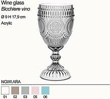 BACI MILANO Weinglas aus Acryl NGWI.ARA 6 Stück