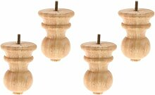 Backbayia 4 Stück Möbelfüße Holz Schrankfuß