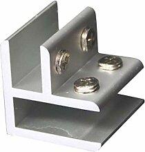 Backbayia Aluminium Glashalter Glas Klemme