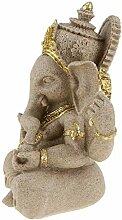 Backbayia Elefanten aus Steinzeug Meditation