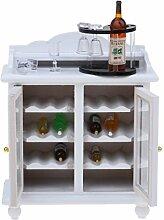 Backbayia Flaschenregal Miniatur Weinschrank für
