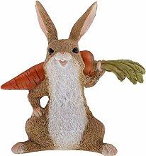 Backbayia Harz Kaninchen Statue Tierfigur