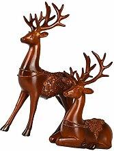 Backbayia Polyresin Tierfigur Skulptur Harz Hirsch