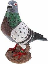 Backbayia Taube aus Kunstharz Dekoskulptur Vogel