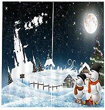 Backbayia Weihnachts Christams Thema Vorhänge