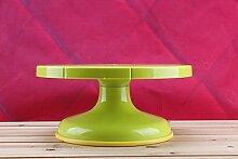 Backen/Drehtisch aus Kunststoff Kuchen Turntable montiert Kunststoff gerahmt Flower Bed/Flower Bed/High Precision Backen Werkzeuge grün