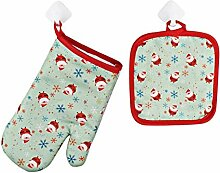 Backen Handschuhe 1 Set Weihnachtsbacken
