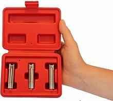 Backen Werkzeuge 3Glow Plug seitliche Slot Socket Set 8, 9, 10mm Alfa Fiat Vauxhall Saab Garage