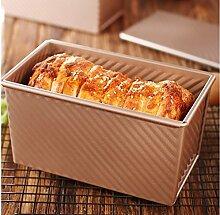 Backen-Werkzeuge Backform Bakeware Golden Toast Toast Form Wellpappe-Box mit Deckel nonstick Ofen mit Brot Set Backutensilien Kuchenform Backen Se