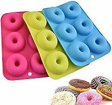 Backform 3 paket Silizium donut form, 6 hohlraum
