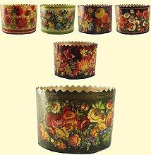 Backform 5er Set für Osterkuchen Blumen H-8,5 cm,