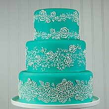 Backform New Rose Flower Cake Border Silikonform