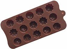 Backform Silikon Blume Rose Schokolade Kuchen
