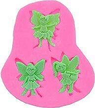 Backform zum Basteln 3 Elfen kleiner Engel Fondant