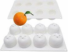 Backformen 8 sogar orange 3d Frucht Mousse