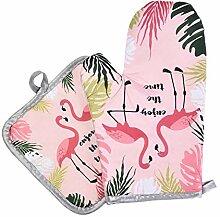 Backhandschuhe Flamingo Muster Mikrowelle