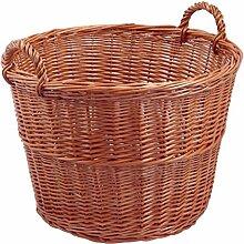 Backideen Gartenkorb rund, braun, Øo 50cm x Øu