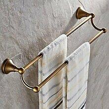 Bad-accessoires Handtuchhalter zeitgenössische Chrom Kupfer Europäischen antike Handtuchhalter Dimension: 600*138*12 mm