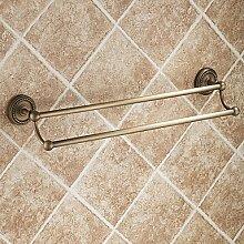 Bad-accessoires Handtuchhalter zeitgenössische Chrom Kupfer Europäischen antike Handtuchhalter Abmessung: 620 x 135 x 70 mm (24.41 x 5.3 x 2.76)