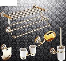 Bad-Accessoires/Kupfer Antik/Gold-plated Handtuchhalter/European Style Handtuchhalter/Bad-Hardware-Zubehör-set-G
