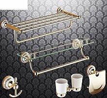 Bad-Accessoires/Kupfer Antik/Gold-plated Handtuchhalter/European Style Handtuchhalter/Bad-Hardware-Zubehör-set-K