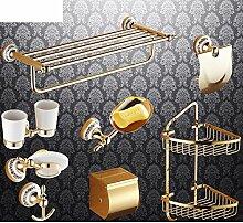 Bad-Accessoires/Kupfer Antik/Gold-plated Handtuchhalter/European Style Handtuchhalter/Bad-Hardware-Zubehör-set-E