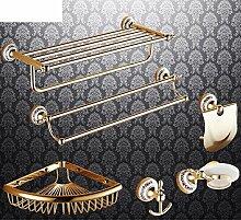 Bad-Accessoires/Kupfer Antik/Gold-plated Handtuchhalter/European Style Handtuchhalter/Bad-Hardware-Zubehör-set-D
