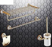 Bad-Accessoires/Kupfer Antik/Gold-plated Handtuchhalter/European Style Handtuchhalter/Bad-Hardware-Zubehör-set-L