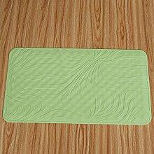 Bad Antirutschmatten/Badezimmer Matte/Grün mit einem Cupulepvc Kunststoff-Matte-B 70x40cm(28x16inch)