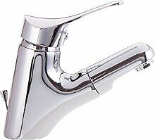 Bad Armatur mit herausziehbar Brause und Zugstange Waschtischarmatur Einhebelmischer Wasserhahn Haarbrause Handbrause Badarmaturen armaturen Waschtischarmaturen