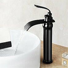 Bad Armatur Schwarz Waschbecken Mischbatterie für
